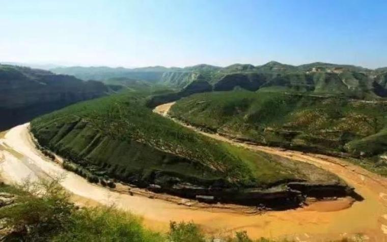 清涧县旅游:无定河画太极图,阳极鱼儿峁奇景欢迎您
