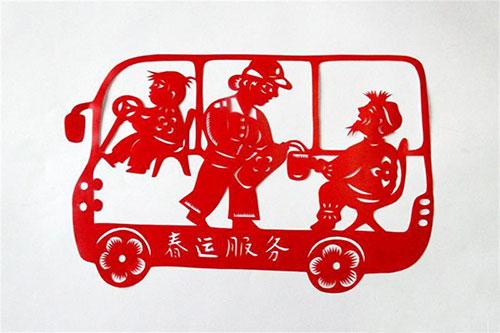 榆林文明网 榆林府谷剪纸助力交通安全宣传
